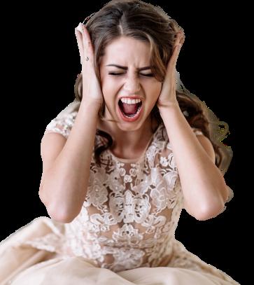 aggódó menyasszony